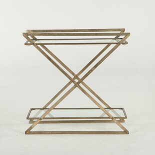 World Interiors Mirabelle Iron and Glass Console Table