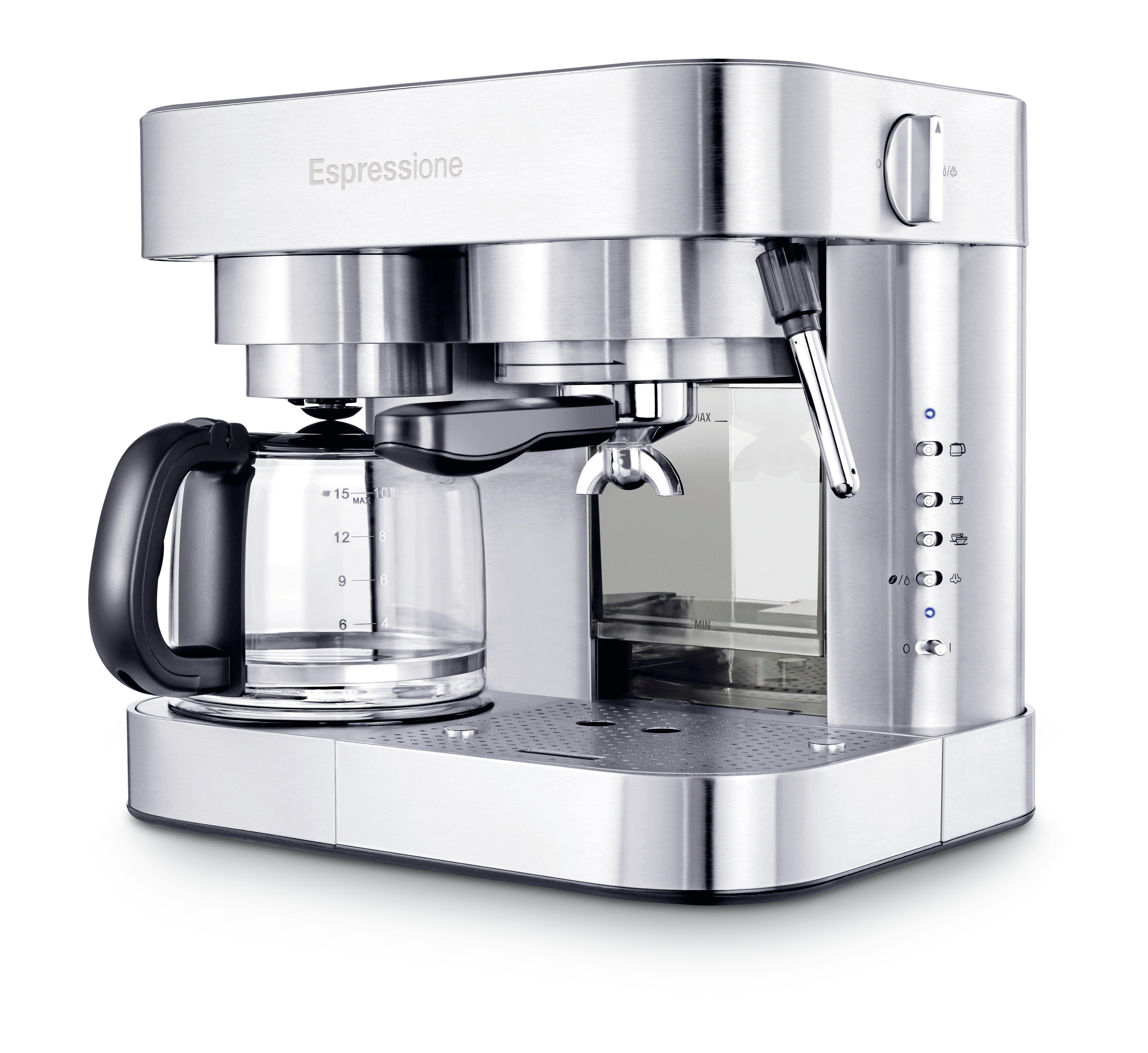 Espressione Stainless Steel Combination Coffee Espresso Maker Wayfair