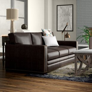 Neil Leather Sofa by Trent Austin Design 2019 Coupon