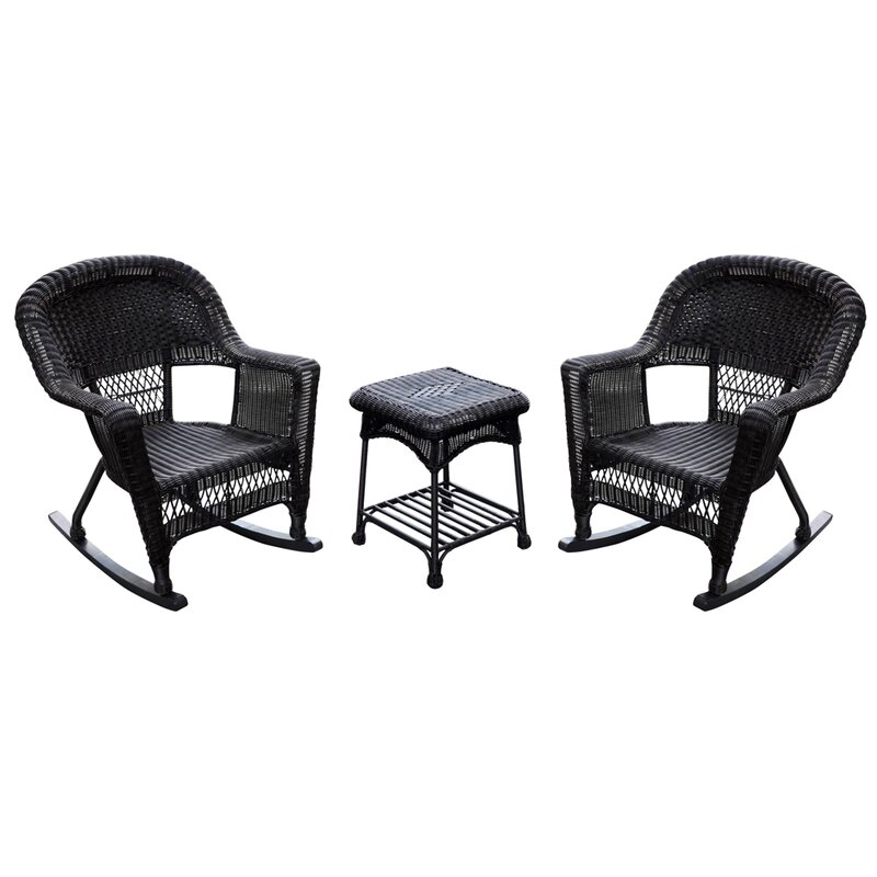 Marvelous Bush 3 Piece Wicker Rocker Seating Group