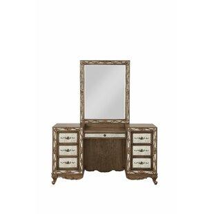Rosdorf Park Hogan Vanity Desk with Mirror