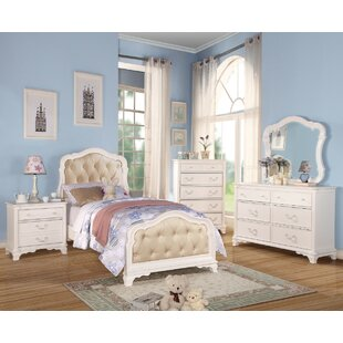 Haase Tufted Button Headboard Full Panel Bed by Harriet Bee