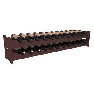 Red Barrel Studio Karnes Pine Scalloped 24 Bottle Tabletop Wine Rack