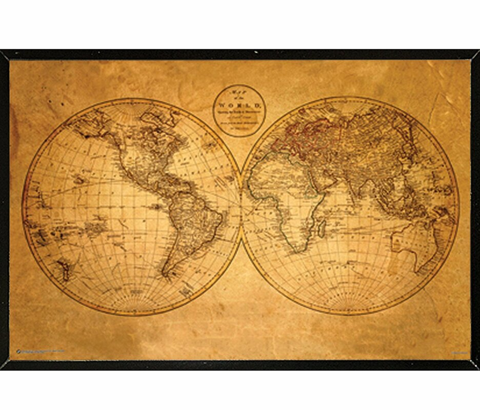 Frame usa old world map framed graphic art print poster old world map framed graphic art print poster gumiabroncs Image collections