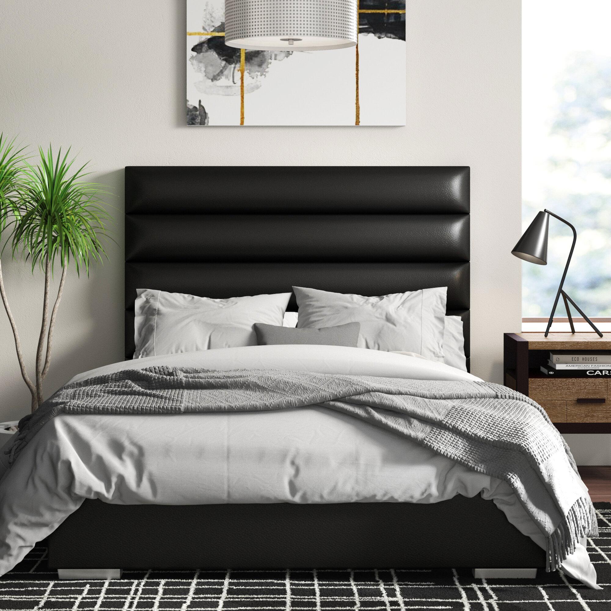 Orren Ellis Ripon Channel Tufted Upholstered Standard Bed Reviews Wayfair