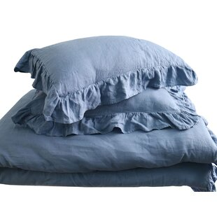 Lytle Stone Washed Reversible Duvet Cover Set