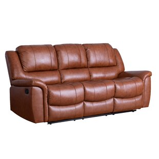 Keziah Genuine Leather Reclining Sofa