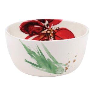 Poinsettia Dip Serving Bowl