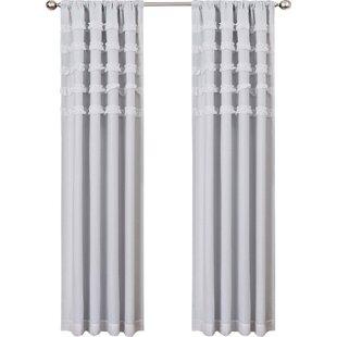 Allman Striped Blackout Thermal Rod Pocket Single Curtain Panel