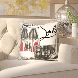 Corrinne Obsessed Louboutin Throw Pillow
