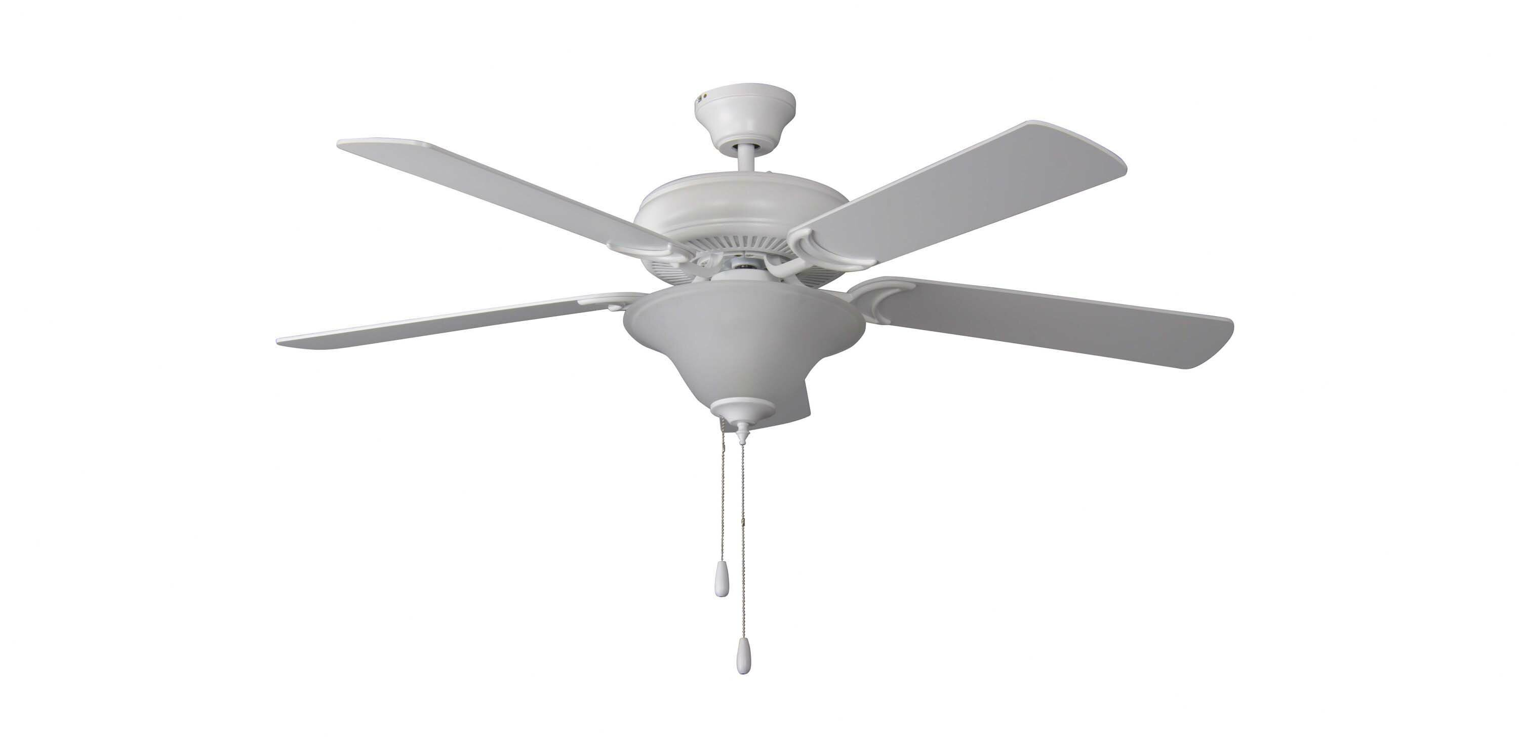 Winston Porter 52 Godbey 5 Blade Standard Ceiling Fan With Pull Chain And Light Kit Included Reviews Wayfair