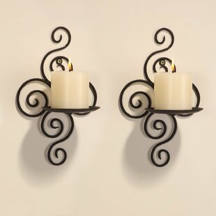 Charmant Iron Wall Sconce Candle Holder (Set Of 2)