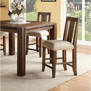 Heyman Wooden Counter Height Bar Stool Millwood Pines