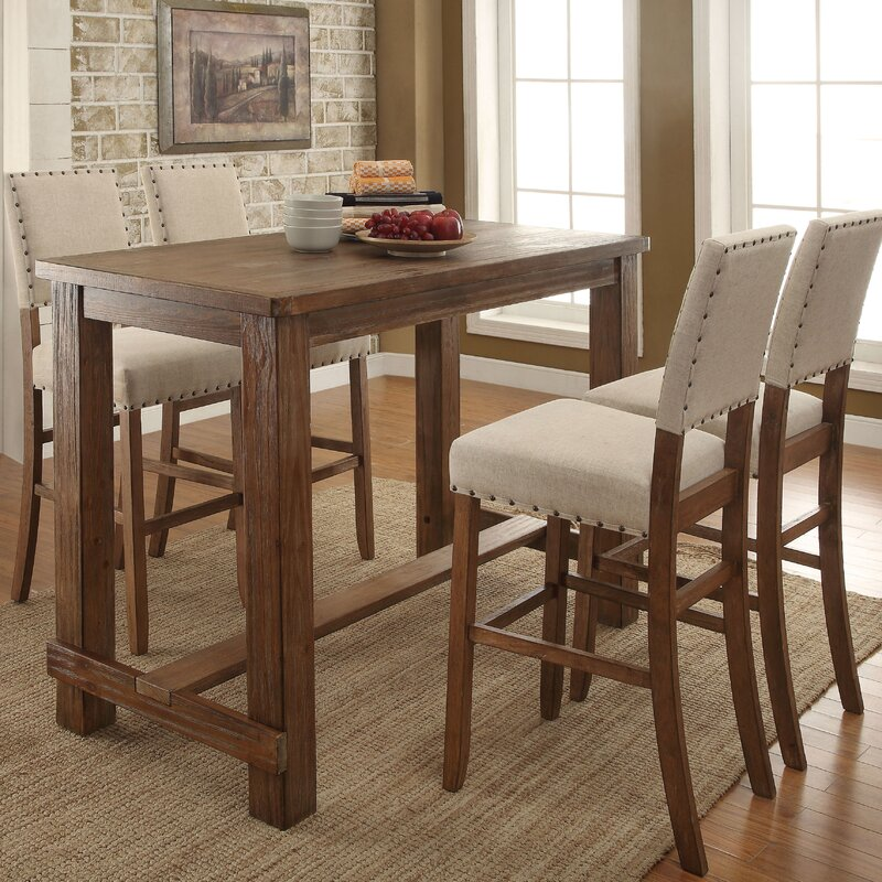 Darby Home Co Lancaster Pub Table Set Reviews Wayfair Rh Wayfair Com Pub  Table And Chairs