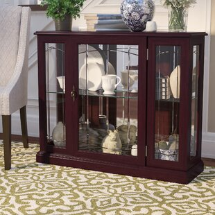 Purvoche Lighted Console Curio Cabinet