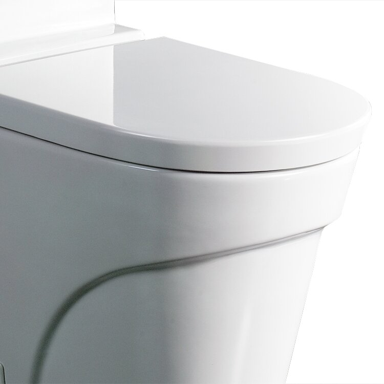 Ariel Bath Oceanus Contemporary 1.6 GPF Elongated One-Piece Toilet ...