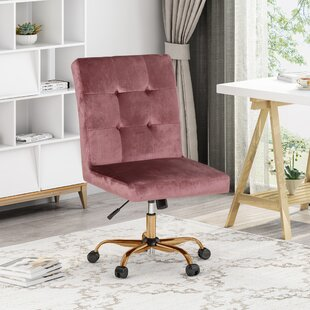 Pleasanton Glam Tufted Task Chair by Everly Quinn New