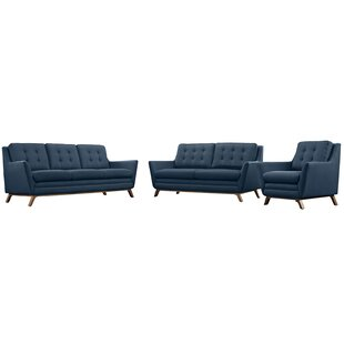 Read Reviews Binder 3 Piece Living Room Set by George Oliver Reviews (2019) & Buyer's Guide