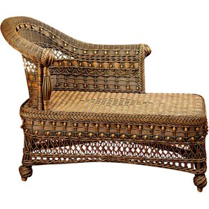 Classic Chaise Lounge by Yesteryear Wicker