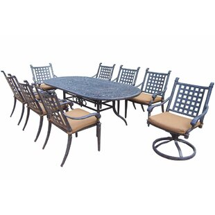 Arness 12 Piece Checkered Dining Set and Bistro Set