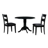 Payton 3 Piece Drop Leaf Solid Wood Dining Set by Alcott Hill®