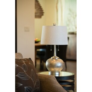 Shop for Hammered Resin 29 Table Lamp with Drum Shade By Wildon Home ®