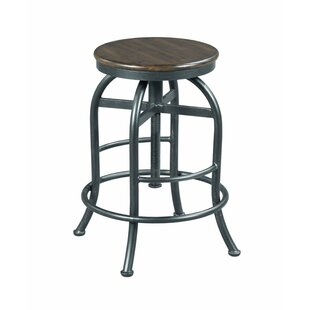 Evie Adjustable Height Bar Stool by Williston Forge
