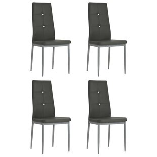 Sioned Upholstered Parsons Chair Set of 4 by Wrought Studio