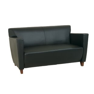 Leather Settee by Office Star ..