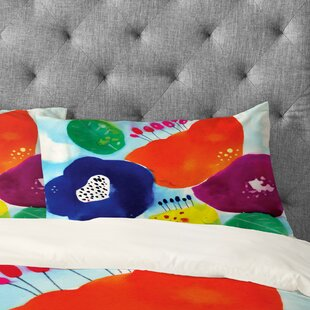 CayenaBlanca Big Flowers Floral Pillowcase