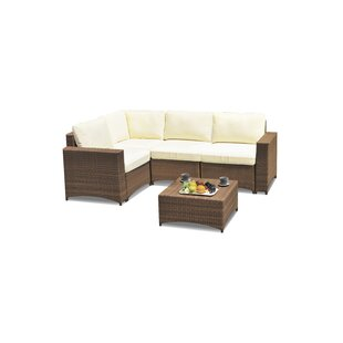 Nelligan Modular 4 Piece Sectional Seating Group with Cushions