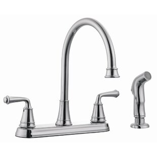 Design House Eden Double Handle Kitchen Faucet with Side Spray
