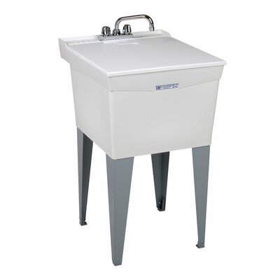 """E.L. Mustee & Son Utilatub 20"""" x 24"""" Free Standing Laundry Sink with Faucet"""