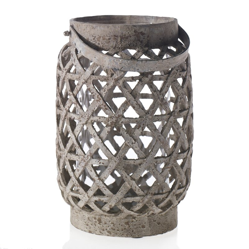 Ceramic lantern centerpiece