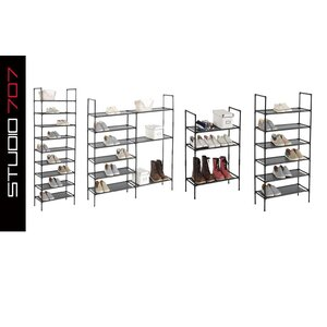 Multi-Purpose 27 Pair Stackable Shoe Rack