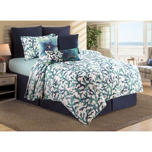 Fraser Aqua Reef Reversible Quilt Set