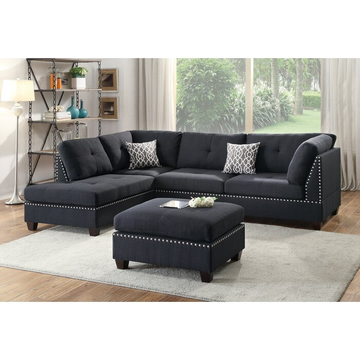 Miraculous Tammy Reversible Sectional With Ottoman Beatyapartments Chair Design Images Beatyapartmentscom