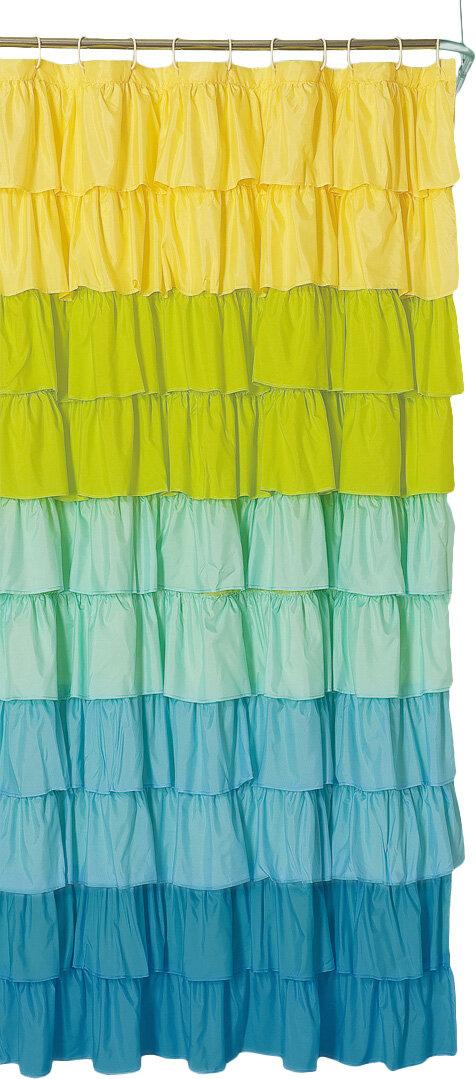 Bungalow Rose Bournazel Ruffled Shower Curtain & Reviews | Wayfair