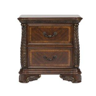 Astoria Grand Herlinda 2 Drawer Nightstand