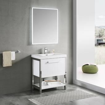 Ebern Designs Jez Waterproof Ergonomic Design 30 Single Bathroom Vanity Set Wayfair