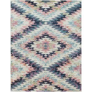 Perfect Nichole Blue/Pink Area Rug