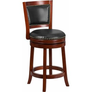 Jenkin Panel Back 26'' Swivel Bar Stool