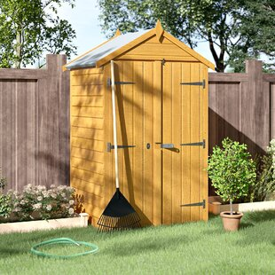 4 Ft. W X 3 Ft. D Overlap Apex Wooden Shed By WFX Utility