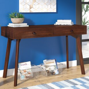 Jovani Acacia Wood Console Table By George Oliver