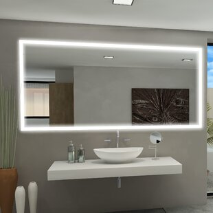 Best Reviews Rectangle Backlit Bathroom/Vanity Wall Mirror By Paris Mirror