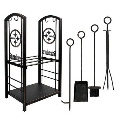 Imperial International 6 Piece Iron Fireplace Tool Set  NFL Team: Pittsburgh Steelers