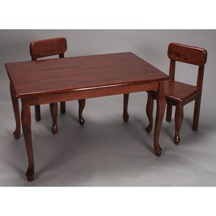 Tazewell Kids 3 Piece Table and Chair Set by Harriet Bee