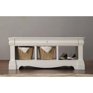 One Allium Way Romans Wood Storage Bench