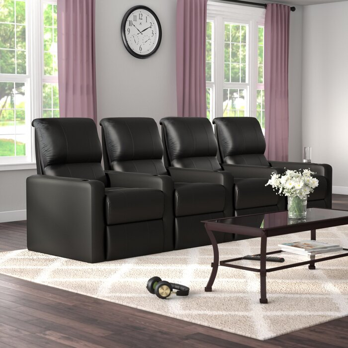 Contemporary Home Theatre Lounger Row Of 4
