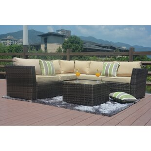 Keesler 4 Piece Sectional Set with Cushions